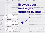 Yahoo Mail now groups your emails by day/time period