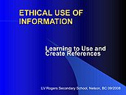 Ethical Use Of Information