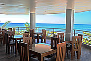 Have lunch at the Blue Marlin Resort in Poro Point http://www.bluemarlinresort.com