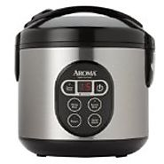 Aroma 8-Cup (Cooked) (4-Cup UNCOOKED) Digital Rice Cooker / Food Steamer, Stainless Steel Exterior
