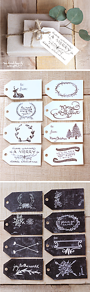 Free Christmas Gift Tag Printables by We Lived Happily Ever After