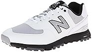 New Balance Men's NBG574B Spikeless Golf Shoe, White/Grey, 10.5 D US