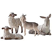 Willow Tree Sheltering Animals for The Holy Family, 4-piece set of animal figures by Susan Lordi 27160