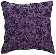 Avarada Solid Floral Bouquet Throw Pillow Cover Decorative Sofa Couch Cushion Cover Zippered 16x16 Inch (40x40 cm) Pu...
