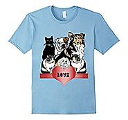 Dogs Cats Lovers T-Shirt Heart Animal Fans