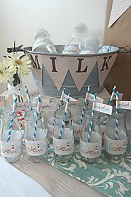 Vintage Milk and Cookies Baby Shower