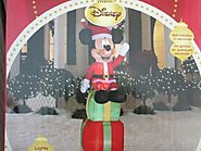 Disney 6' Mickey Mouse with Christmas Gifts Lighted Airblown Inflatable Outdoor Yard Decoration