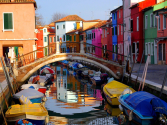 The Colorful Island of Burano, Italy The island...