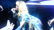 Fan Grabs Rihanna; Rihanna Hits Fan With Microphone