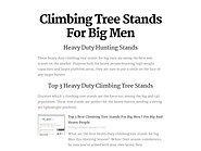 Climbing Tree Stands For Big Men