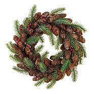 Pine Cone Berry Wreath