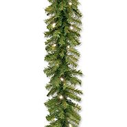 National Tree Norwood Fir Garland with 50 Battery Operated Soft White LED Lights in Re-Shippable Brown Box, 9-Feet by...