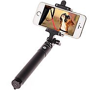 The Memory Journalists Best Selfie Stick, Bluetooth Remote Shutter Extendable Pole Monopod for iphone 6 Plus ,6, 5s, ...