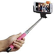 Selfie Stick, Flexion™ QuickSnap Pro 3-In-1 Self-portrait Monopod Extendable Wireless Bluetooth Selfie Stick with bui...