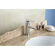 2015 New Solid Brass Body And Chrome Polished Basin Bathroom Sink Faucet At FaucetsDeal.com