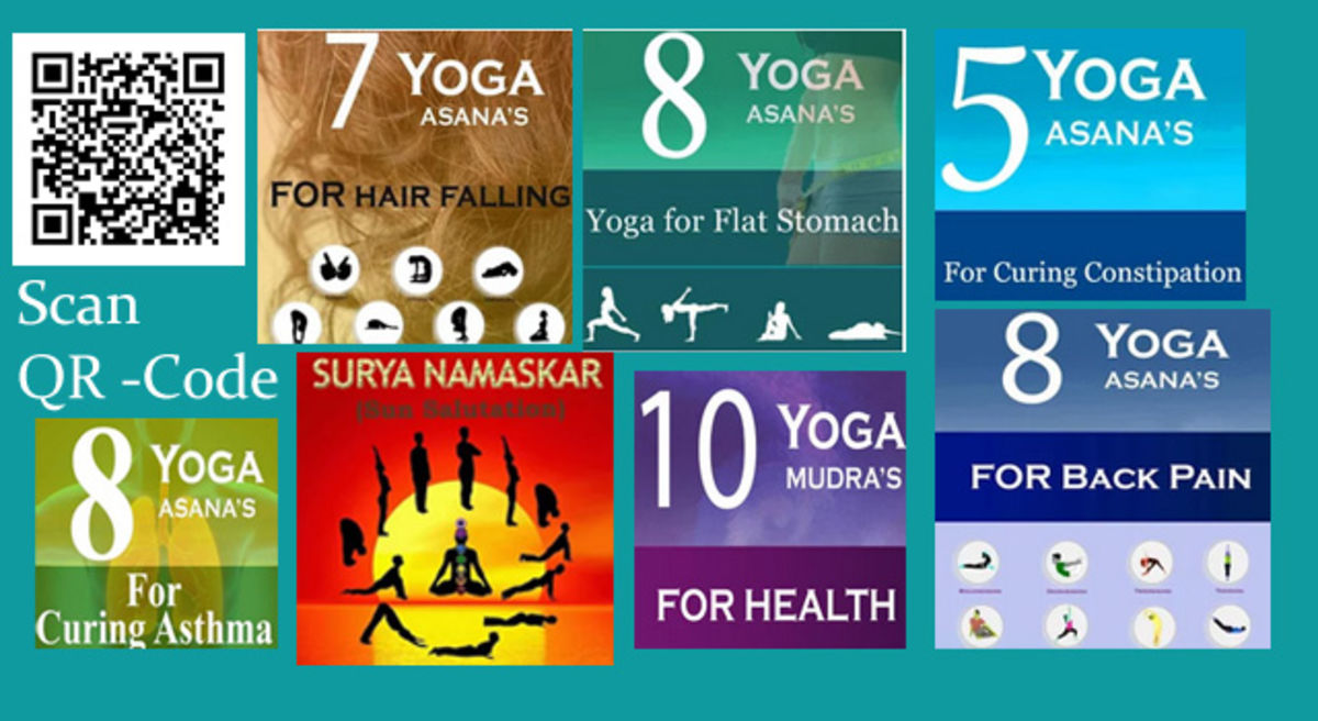 Headline for Yoga Asanas Android - great list of Yoga Apps for Android