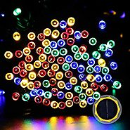 LuckLED Novelty Solar LED Christmas Lights, 72ft Fairy String Lights with Light Sensor for Patio, Lawn, Landscape Lig...