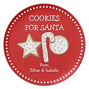 Cookies For Santa Personalized Cookie Trio Plate