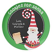 Personalized Christmas Cookie Plates