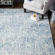Vines Wool Rug - Blue Lagoon 3x5 Special $135, 5x8 $319