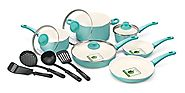 GreenLife 14 Piece Nonstick Ceramic Cookware Set with Soft Grip,black $79.92 & FREE Shipping