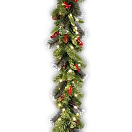National Tree CW7-306-9A-1 Crestwood Spruce Garland with Silver Bristle, 9-Feet by 10-Inch