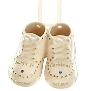 Personalized Baby's First Steps Ornament by Lenox