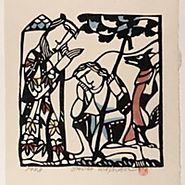 Father Blessing His Prodigal Son, with Fox Devil - Sadao Watanabe