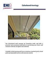 Colorbond Awnings
