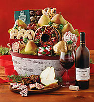Christmas Gift Basket with Wine - Harry & David