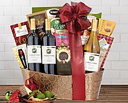 Hobson Estate Trio Basket - Wine Country Gift Baskets