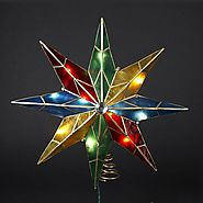 Cheap Lighted Star Christmas Tree Topper