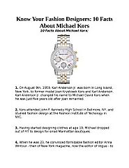 Know Your Fashion Designers: 10 Facts About Michael Kors