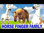 Finger Family Song - Horse Family Singing Songs for Children - Finger Family Children Rhymes