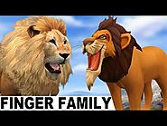 Finger Family Songs - Lions Singing Baby Songs - Finger Family Baby Songs