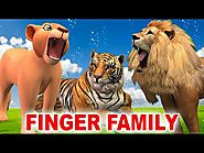 Finger Family Song - Animals Singing Rhymes for Kids - Finger Family Rhymes for Children