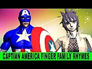 SuperHeros - Finger Family Song - Captain America Singing and Dancing to Nursery Rhymes