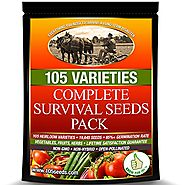 Survival Seed Vault Best For Fruit Herb and Vegetable Storage Bank - Emergency Doomsday Gardens Supplies - 105 Variet...