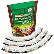 Heirloom Vegetable Seeds Bulk Pack - Best For Planting Sprouting and Gardening Non GMO Non Hybrid Food - 50 Varieties...