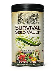 Survival Seed Vault - Heirloom Emergency Survival Seeds - Plant a Full Acre Crisis Victory Garden - 20 Easy-to-grow V...
