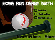 Home Run Derby Math - a Math Baseball Game ""