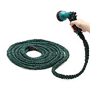 Deluxe Expandable Garden Water Hose w/ Spray Nozzle