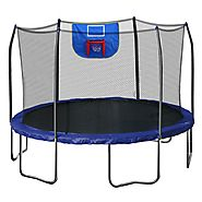 Cheap Trampoline With Basketball Hoop * DealeryDo