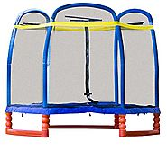 "SkyBound Super 7 The Perfect Kid's Indoor/Outdoor Trampoline, 84"" H"