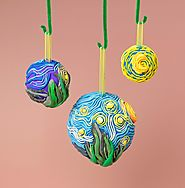 Artist Christmas Ornaments.Famous Artist Inspired Christmas Ornaments And Greeting