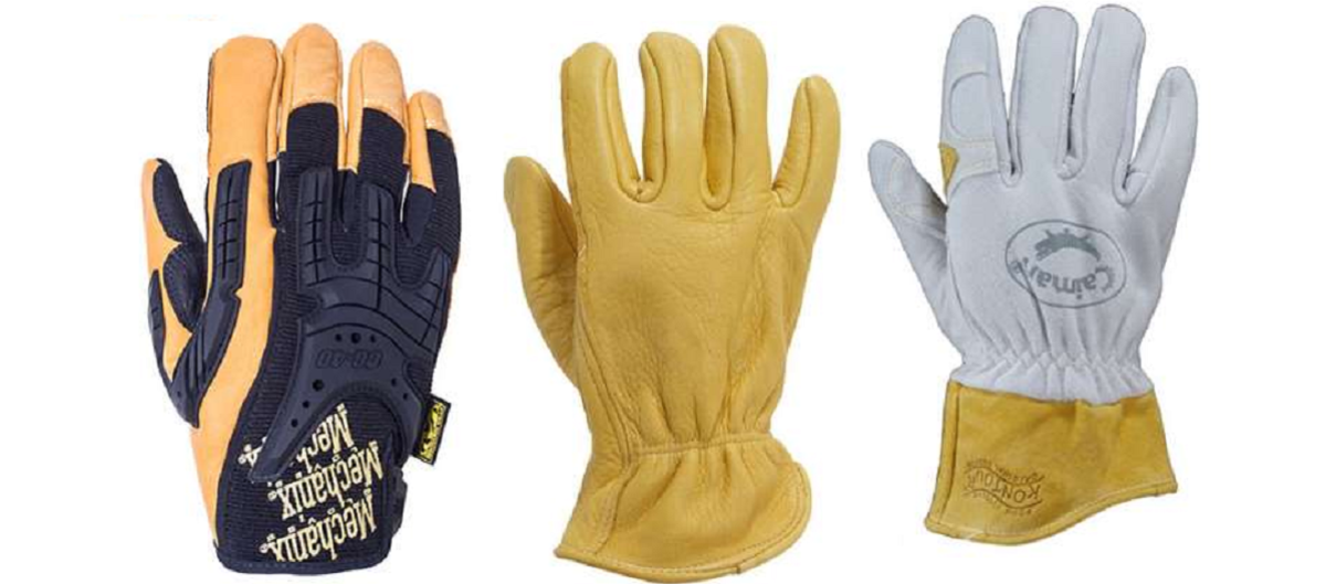 Headline for Best-Rated Leather Work Gloves for Men Large X-Large XX-Large