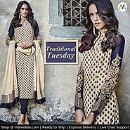 A perfect traditional look Straight Cut Salwar Suits