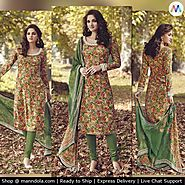 Exclusive Multi Colour Tussar Silk Salwar Suits at 14% Discounted Price