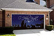 Nativity O Holy Night Outdoor Christmas Holiday Garage Door Décor 7'x16'
