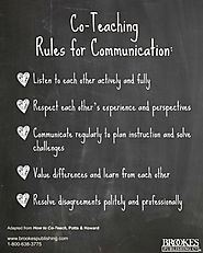 Co-Teaching Rules for Communication